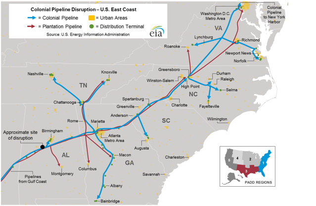 Maps Energy Resources For North Carolina Teachers - Gasoline-pipeline-map-us
