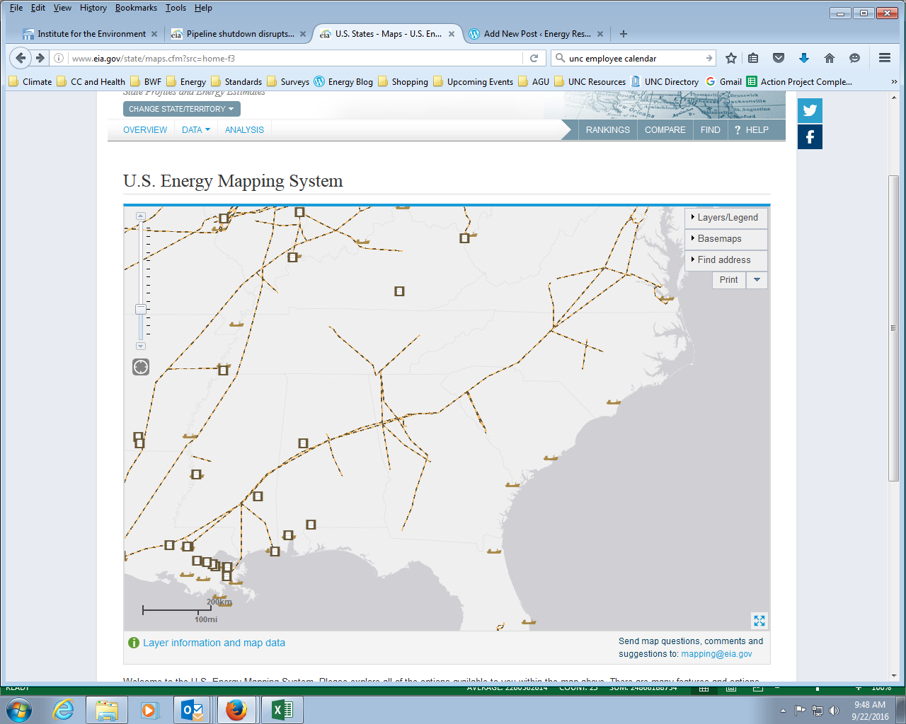 Petroleum Energy Resources For North Carolina Teachers - Us energy mapping system